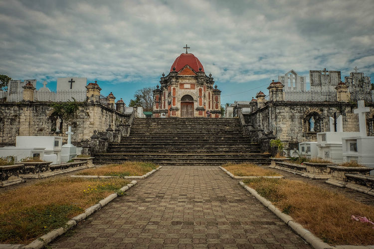 Ancient Civilization Architecture Building Exterior Built Structure Cloud - Sky Day Dome Heritage History Iloilo No People Outdoors Place Of Worship Religion San Joaquin Cemetery Sky Spirituality Tourism Travel Destinations The Architect - 2017 EyeEm Awards