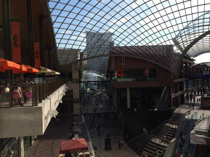 Architecture Bristol, England Cabot Circus City City Life Glass Roof Modern Shopping Centre
