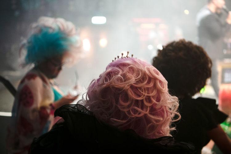 People dancing at music concert