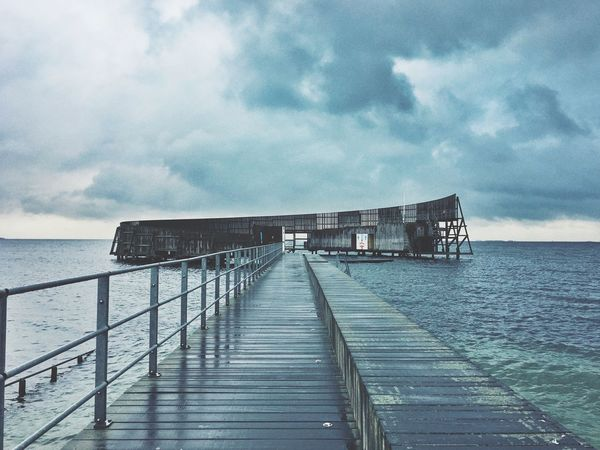End of the world Sea Cloudy Sea Water Sky Cloud - Sky Architecture Nature The Architect - 2018 EyeEm Awards Beauty In Nature Horizon Scenics - Nature Beach No People Outdoors Day