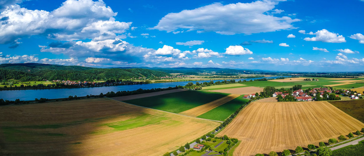 Bavaria Danube Donau Shadows & Lights Bavarian Forrest Bluesky Danube River Shadow