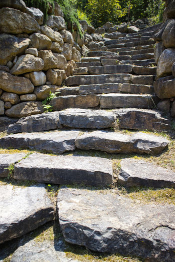 Solid Architecture Staircase No People Day Stone - Object Steps And Staircases Built Structure Stone Wall Rock Nature Stone Material Wall The Way Forward Stone History Direction The Past Outdoors Wall - Building Feature Archaeology Ruined