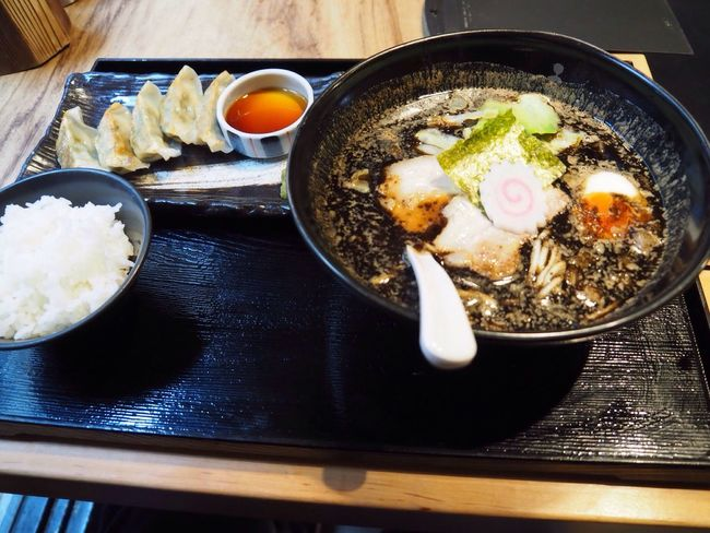 Kyoto Japan Kawaramachi Noodle Gogyo Delicious Gyoza Olympus PEN-F 京都 日本 河原町 五行 ラーメン 美味 餃子