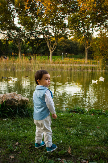 Water Full Length One Person Tree Lake Childhood Outdoors Child One Boy Only Boys Nature Standing Children Only BotanicGardens Autmn In My City Autumn Leaves Autmngoodbay Autmn Colors Park - Man Made Space Reflection Nature Bursa / Turkey MySonMyLoveMyEverything MySON♥ Myson