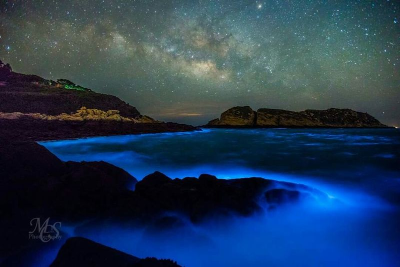 Matsu,Taiwan Sea Blue Tears My Hometown Night Beautiful Little Island My Country In A Photo