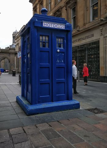 TARDIS Blue Drwho Drwhotdog Architecture Built Structure Outdoors Travel Destinations Streets Of Glasgow