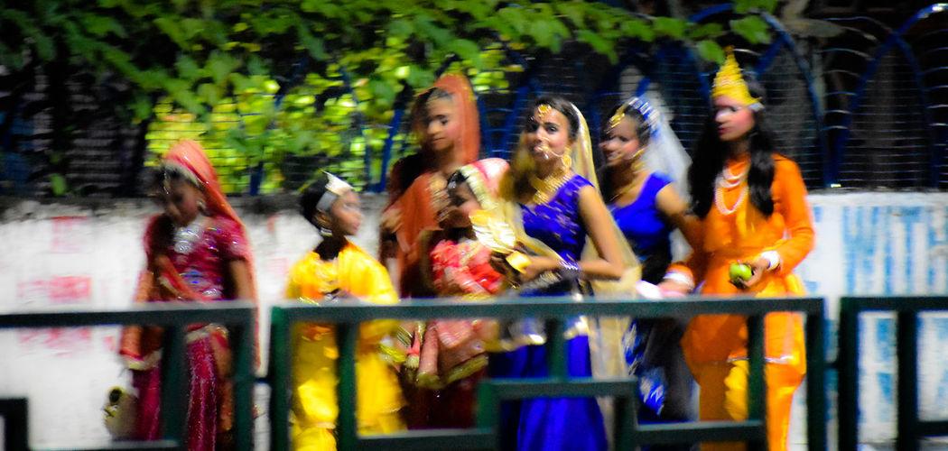 children enjoying the festival of lord Krishna's birthday. #children #children Photography #festival #celebration #OnTheMove #fancy Dress #citylife #City #nightshot #Night #walking #RealPeople HUAWEI Photo Award: After Dark