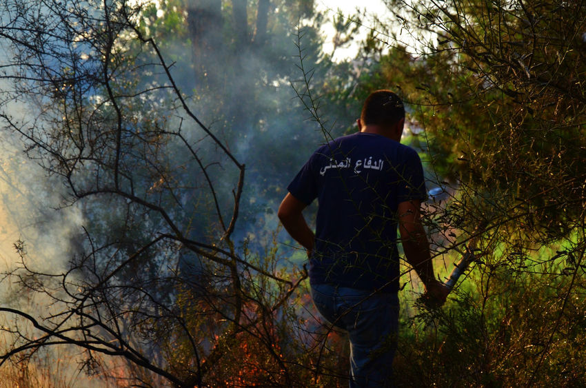 Forest fire in Lebanon on a hot summer day Burning Burning Wood Disaster Fire Firefighter Firefighters Fireman Forest Forest Fire Forest Fire Smoke Forestfire Lebanon Natural Disaster Non-urban Scene Smoke WoodLand