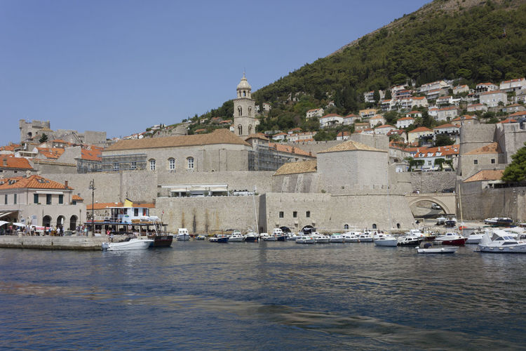 Dubrovnik Dubrovnik, Croatia Architecture Built Structure Building Exterior Nature Travel Destinations Day Outdoors Town Wall Townwall Croatia Nautical Vessel Water Transportation Mode Of Transportation Building City Sky Waterfront Religion Sea Place Of Worship Clear Sky Belief No People Passenger Craft Sailboat Cityscape