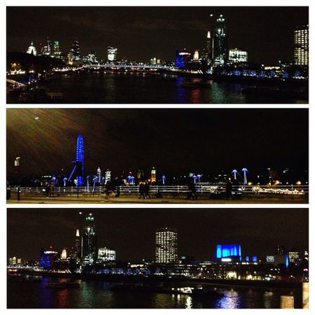 This was my view yesterday evening of the CityAtNight on my way to see the Nationaltheatre & DV8PhysicalTheatre production of John .