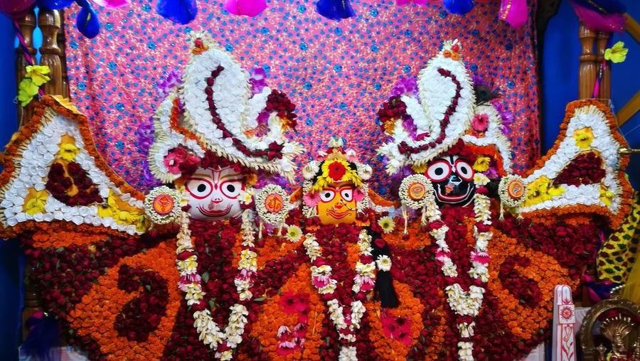 Dhamrai Ratha Yatra God Roth Festival Multi Colored Art And Craft Creativity Decoration Celebration No People Representation Design Human Representation Day Wall - Building Feature Traditional Festival Craft