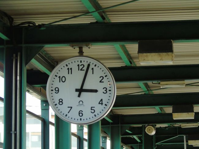 As time goes by ... Clock Time Clock Face Instrument Of Time Minute Hand Hour Hand Clocks At Street Waiting For A Train Time Passes By Hours Minutes Low Angle View No People Day