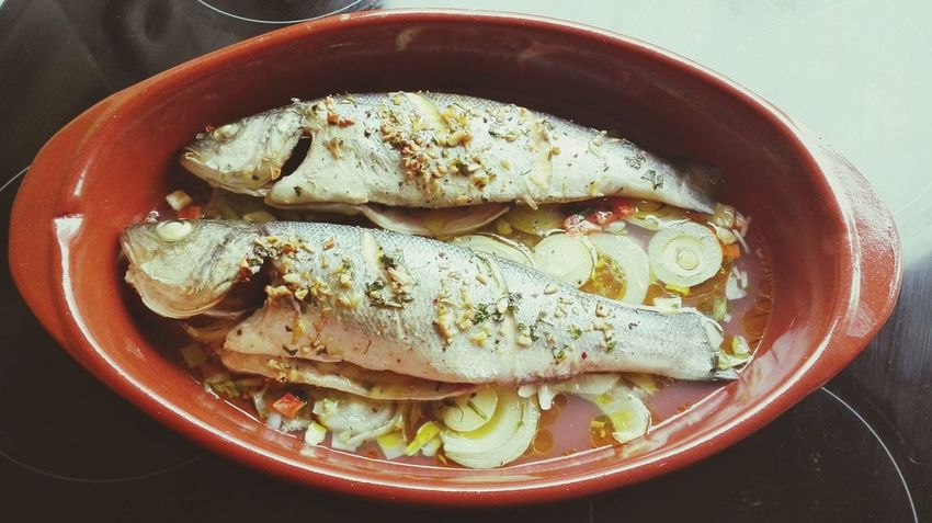 Seafood Food And Drink Food Healthy Eating Freshness No People Raw Food Fish Directly Above Indoors  Close-up Ready-to-eat Day Cooked Food Cooked Fish Bass Bass Fish