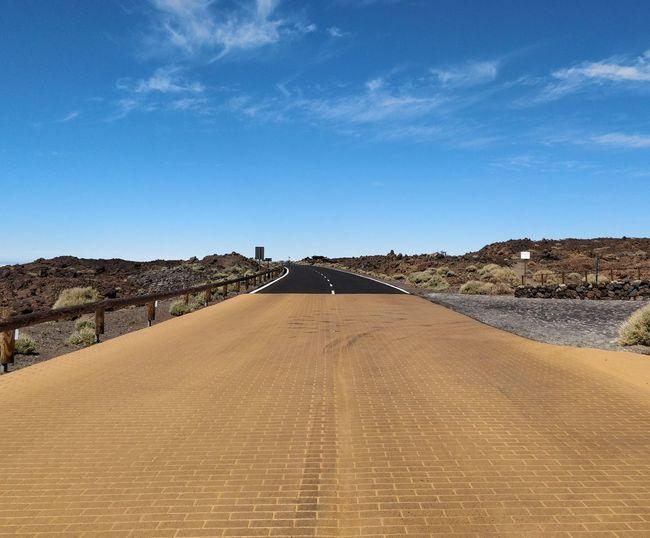Road Blue Sand