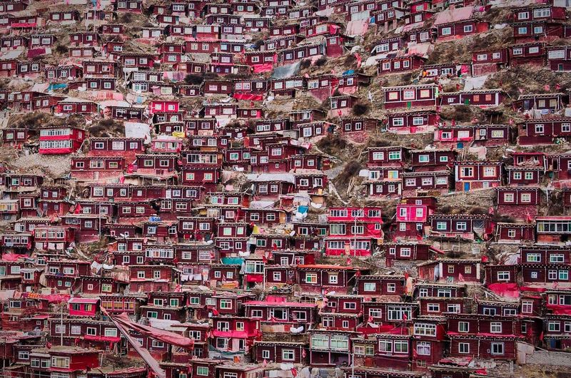 Color Palette Red Lalung Gar Tibet Tibetan Buddhism