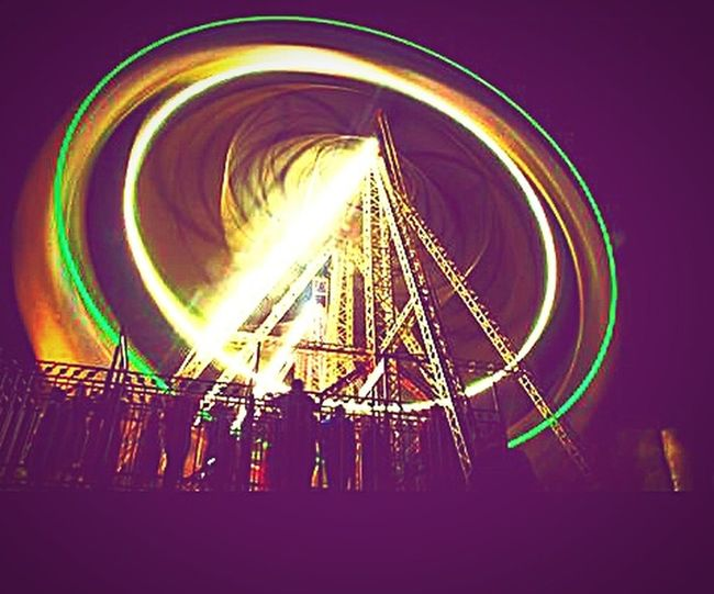 Colors And Patterns Illuminated Nightlife Outdoors People And Places Overnight Success TakeoverContrast Enjoyment Night Photography Roller Coaster Rides Indian Style MELA Swings Childhood Memories This Week On Eyeem