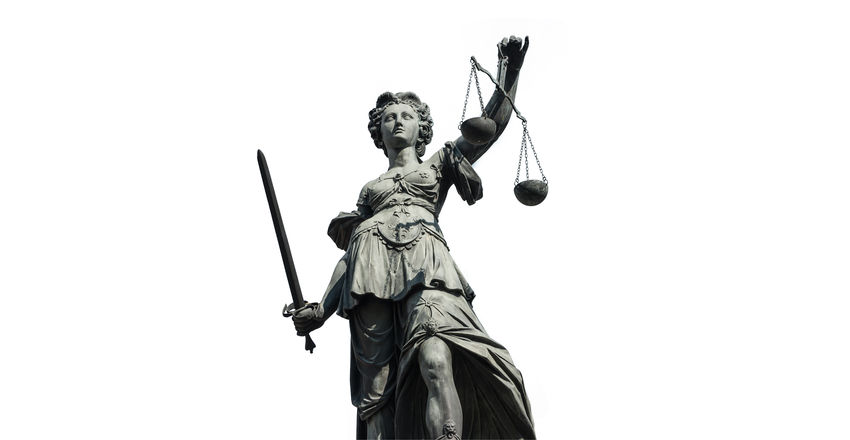 Lady Justice Statue isolated on white background Court Crime Guilty Innocence Isolated Iustitia Jury Justitia Lady Justice Lawyer Liberty Scale  Balance Courthouse Courtroom Gavel Isolated White Background Judge Judgment Judicial Law No People Sculpture Statue Symbol