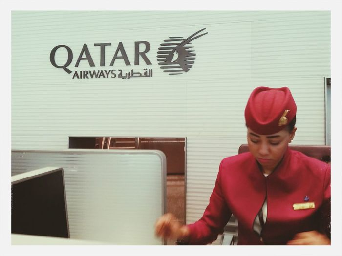 Qatar Airways Business Class check in Counter in Doha. 5Star world class experience Hamad International Airport (DOH) Qatar