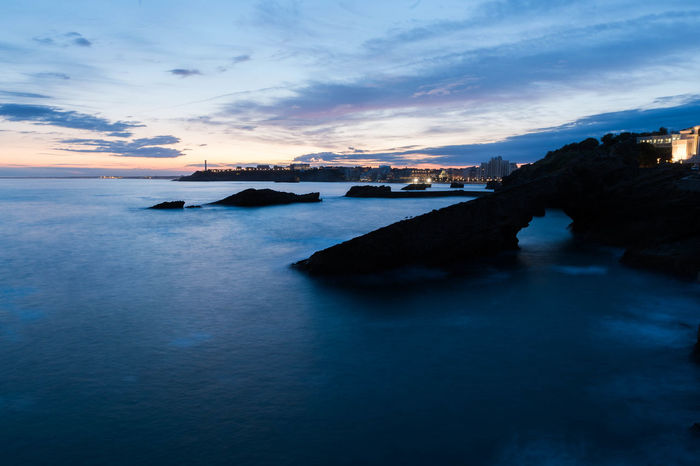 Biarritz Calm Idyllic Long Exposure Nightphotography No People Ocean Rocks Sea Sunrise Water