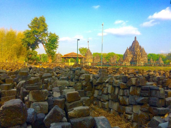 Prambanan temple Prambanan Prambanan Temple, Yogyakarta Prambanantample Religion Architecture History Sky Built Structure Outdoors Building Exterior Ancient Civilization Central Java,indonesia Temple Hinduism Landscape