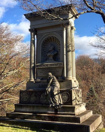 If you enjoy visiting cemeteries and enjoy a bit of history visit Sleepy Hollow Cemetery. During the fall season the cemetery has night tours Statue Sculpture Walking Around Talking_statues Total_statues Religious Art Details Graveyard Beauty mausoleums markers gravestones cemetery photography sleepy hollow cemetery