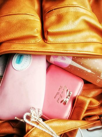 Happytime Whatsinmybag Pinks  Leather Bag Pencil Case Waterbottle Wallet Pink Life Hairpin