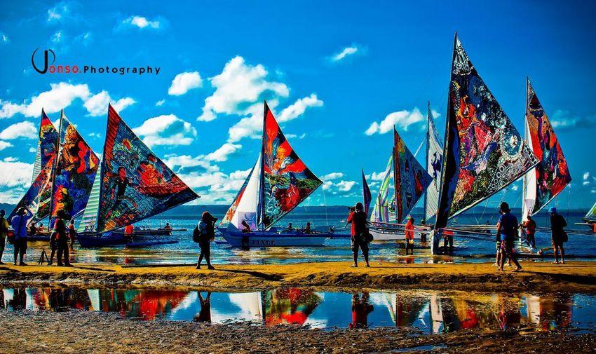 Iloilo City Philippines Paraw Regatta Sky Flag Patriotism Water Nature Cloud - Sky No People Sunlight