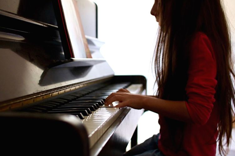 Music Piano Musical Instrument Pianist Playing Piano Key Skill  Keyboard Instrument Musician Practicing Learning Sheet Music Performance Grand Piano Classical Music Indoors  One Person Concentration Arts Culture And Entertainment Women Be. Ready.
