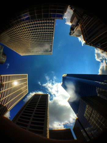 Looking Up DowntownMPLS Minneapolis Minnesota Low Angle View Architecture Building Exterior Urban Geometry Urbanphotography Urban Landscape Urban Photography Cityscapes Cityscape Minneapolis Minnesota Cloud - Sky Sky And Clouds Clouds And Sky Sky City No People
