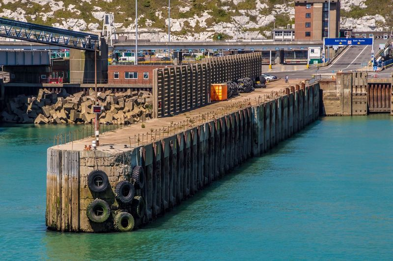 Dover Ferryport Water Architecture Built Structure Incidental People Transportation Day Nature