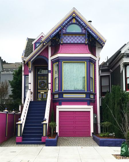 Cutest House on the Block Classic Architecture Cute Houses San Francisco Architecture San Francisco, California Victorian Architecture Building Exterior House No People Pink Color Purple San Francisco Bay
