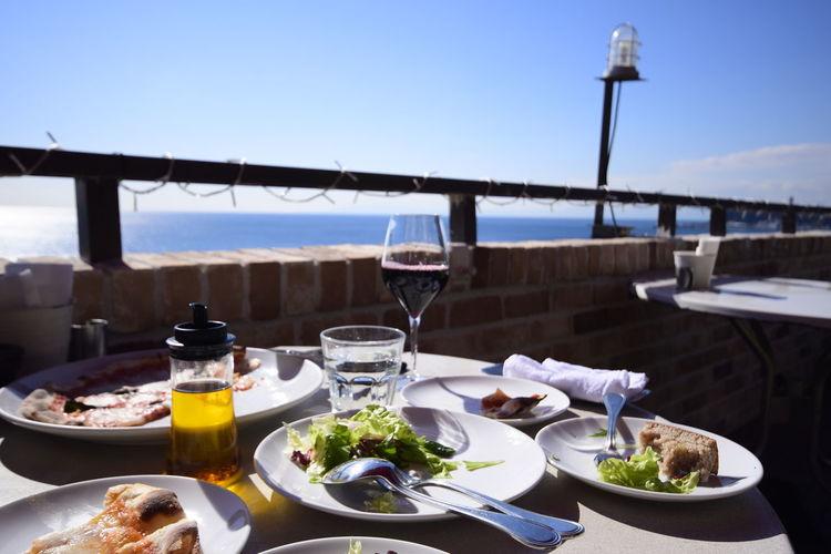 Wineglass Sky Lunch Drinking Glass Day EyeEm Best Shots Sea And Sky Sea Beach Enoshima We_are_buddy_Tm's_photo