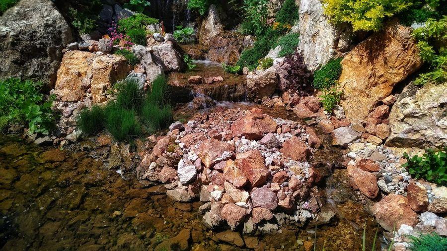 water...rocks...