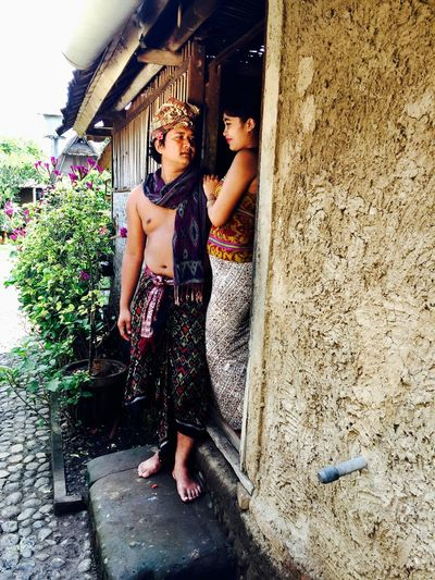 Architecture Bali, Indonesia Beauty In Nature Building Exterior Couple House Lifestyles Love Sights Two People Young Women