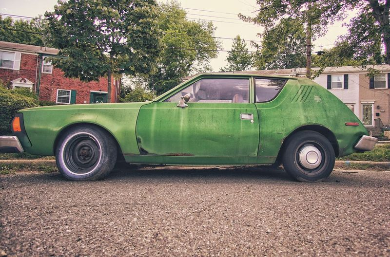 Transportation Mode Of Transport Car Green Color Retro Styled Automobile Auto Classic Vehicle Classic Cars Classic Car Rusty Retro Car Retro Style Classiccar The Weekend On EyeEm Gremlin AMC Amcgremlin Amc Gremlin Rust And Junk Cult Classics Funky Cool