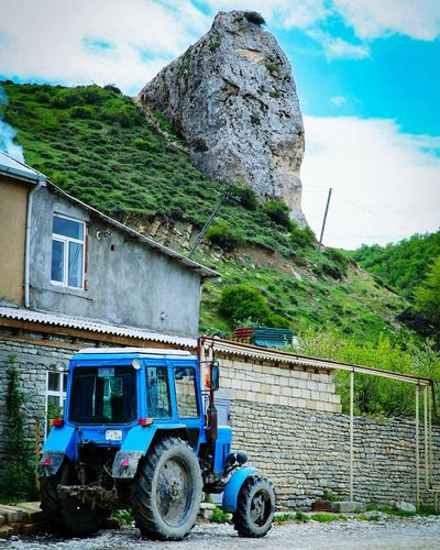 Agriculture Rural Scene Outdoors Sky No People Cloud - Sky Day Mountain Nature AZ Azerbaijan Follow Follows Followme Men Stone Village Car Tractor Belarus Kavkaz