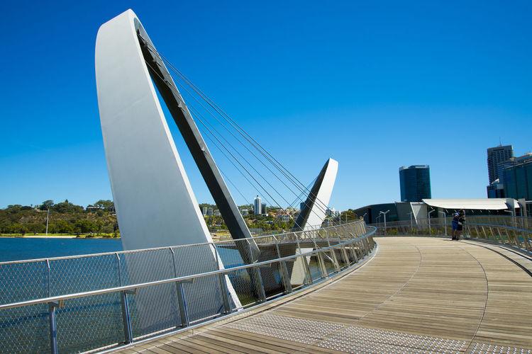 Elizabeth Quay Bridge Australia Perth Elizabeth Quay Bridge Elizabeth Quay City Bridge