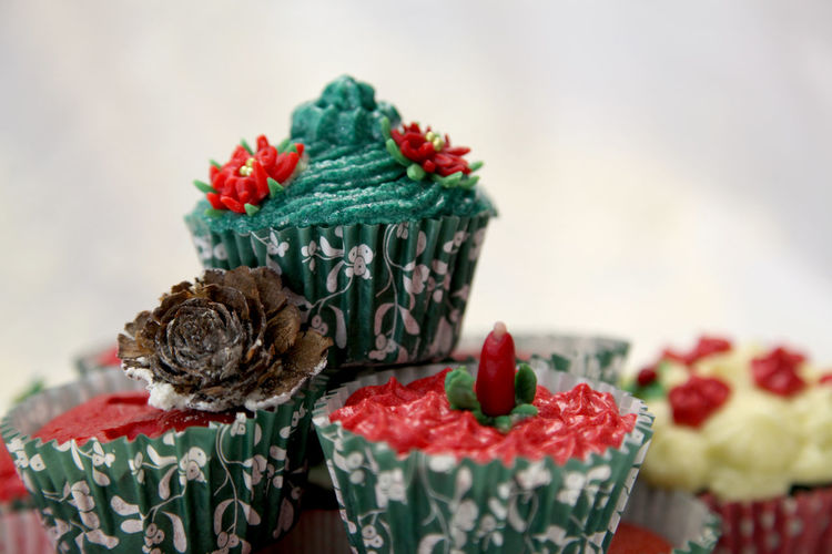 Detail shot of cup cakes