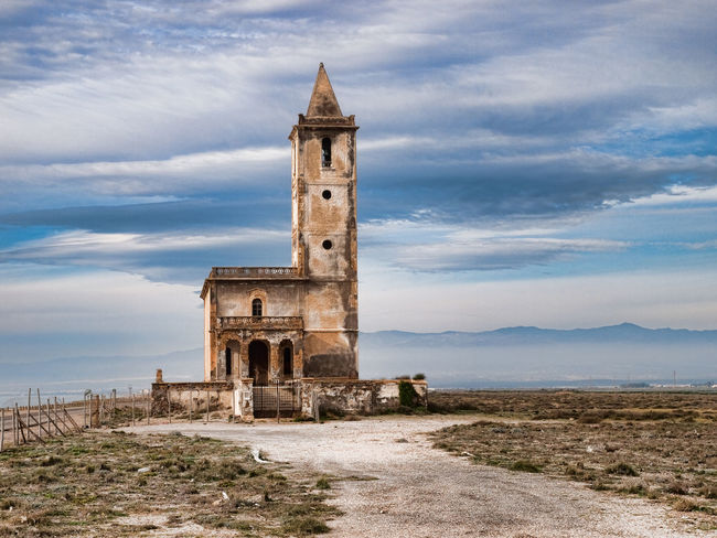 Old church in Cabo de Gata. Architecture Building Exterior Cabo De Gata Church Desert Lonely Sky SPAIN