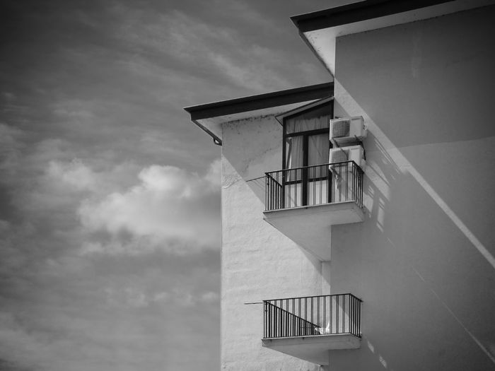 Invisible cities Architecture Black And White Building Cloud - Sky Horizontal Comoisition Monochrome Mood Light No People Urban