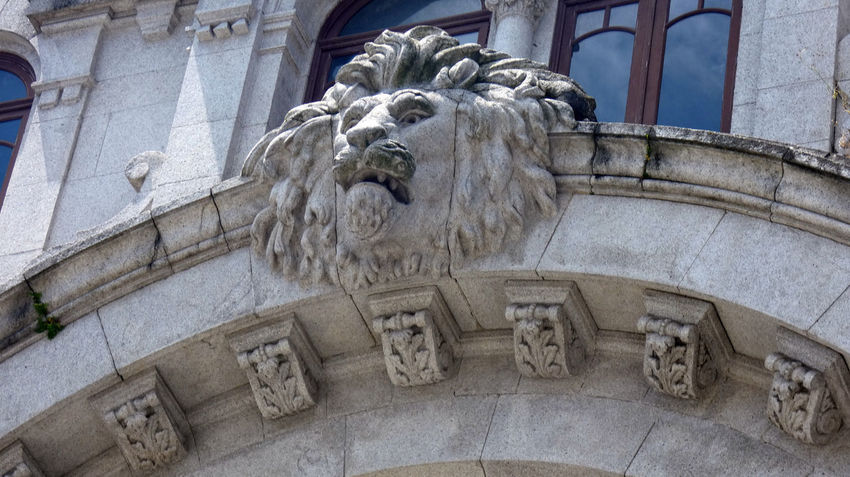 Statue in building. Architecture Lion Architecture Art And Craft Bas Relief Building Building Exterior Built Structure Carving Carving - Craft Product Craft Creativity Day History Low Angle View Male Likeness No People Ornate Representation Sculpture Statue Stone Material Structure The Past Travel Destinations