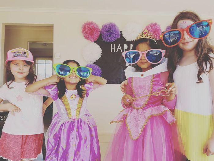 EyeEm Selects Sunglasses Girls Fun Child Eye Mask Children Only Party - Social Event Smiling Enjoyment Friendship Party Children