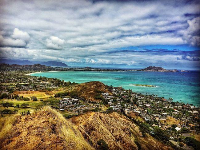 Kailua, Oahu Lanikaipillboxes Kailua Beach Beachlife Hawaiilife Island Life Luckywelivehawaii Mountain Ocean View Ocean Beauty In Nature Home