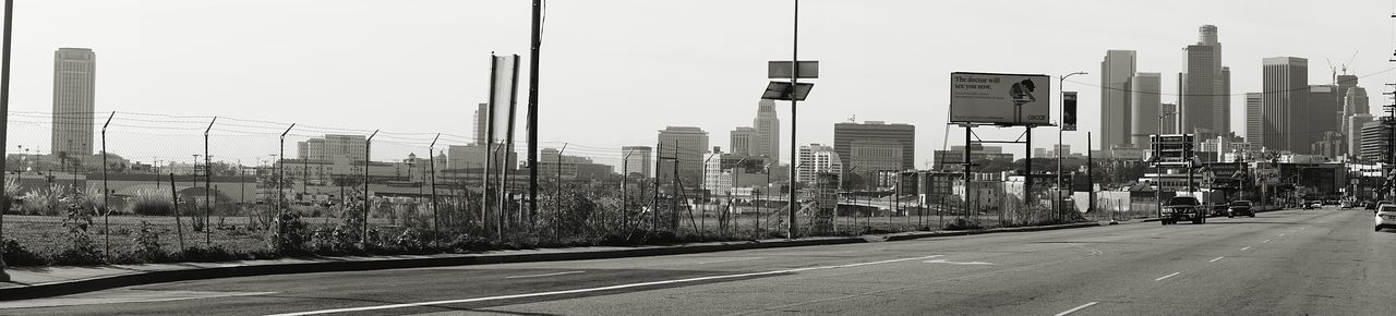 Solano Canyon area. Los Angeles, California DTLA Monochrome_life Panoramic Photography