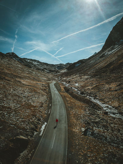 Drone  Drones Beauty In Nature Curve Day Drone Photography Dronephotography Droneshot Landscape Mountain Nature No People Outdoors Road Scenics Sky The Way Forward Transportation