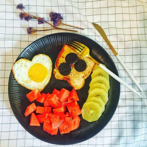 【❤️】自己温暖自己吧!😜 春子私房菜 一个人生活 手机摄影 美食 早餐