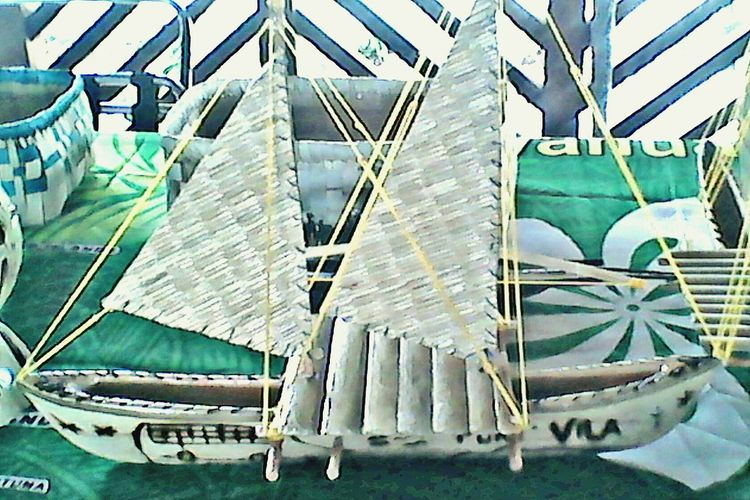 Vanuatu Traditional Canoe No People Indoors  Full Frame Day Close-up