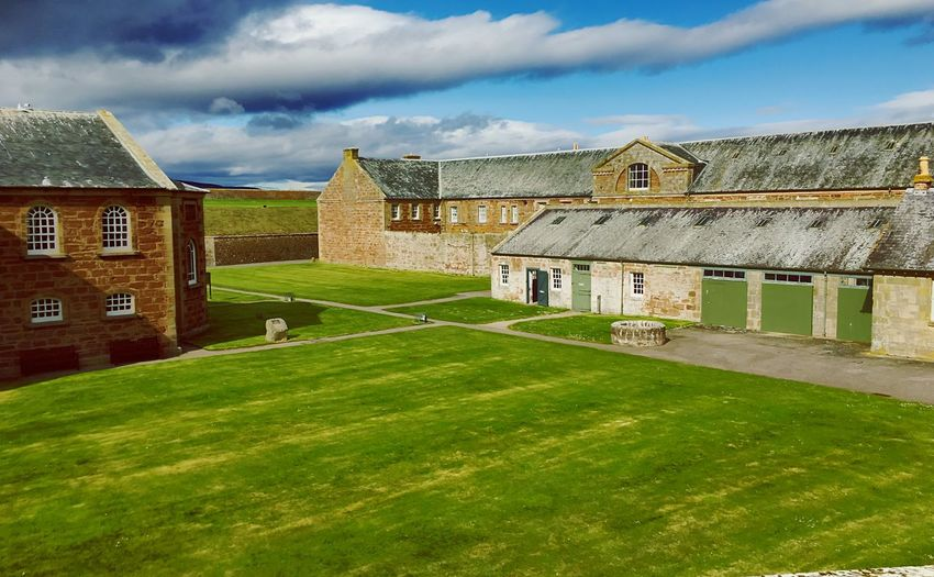 Highland Uk Scotland Monument Fort George Architecture Built Structure Cloud - Sky Sky Building Exterior Building Nature History The Past Green Color Day Grass Outdoors Travel Destinations No People Sunlight Land House Residential District Plant