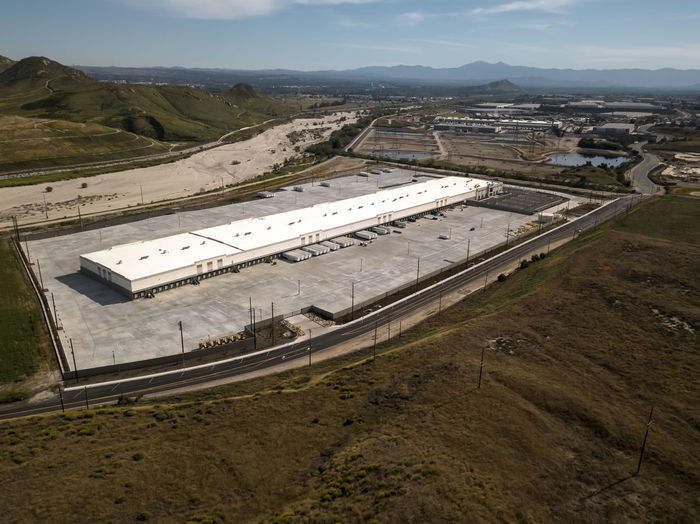 A new Walmart distribution center in Colton High Angle View Architecture No People Landscape Building Exterior Transportation Road Warehouse Distribution Warehouse Distribution California Logistics Retail