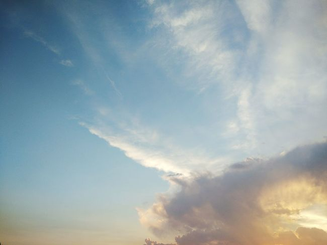 Sky Blue Cloud - Sky Bright Outdoors Nature No People Sky Only Low Angle View Day Sunset Backgrounds Beauty In Nature Scenics Vapor Trail